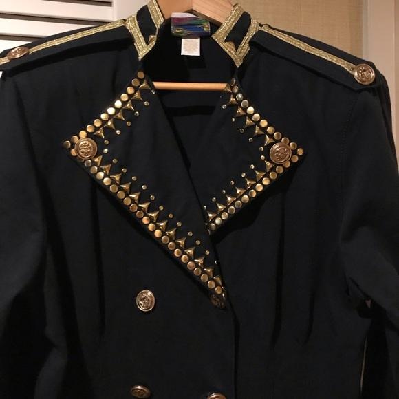 Moniques Fashions Dresses & Skirts - Black and Gold evening button up dress Vintage